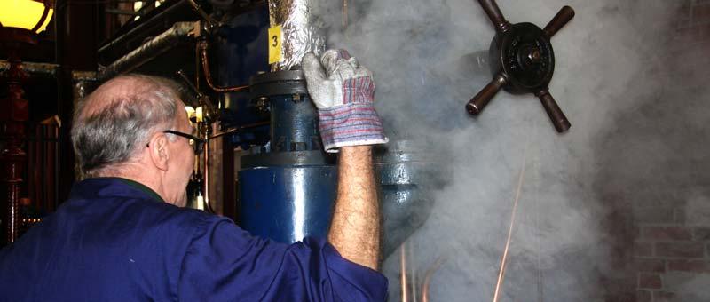 Steaming volunteer