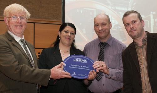 Receiving Our Award